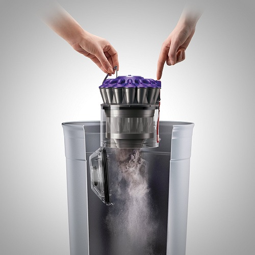 Dyson DC39 canister multifloor vacuum bin emptying