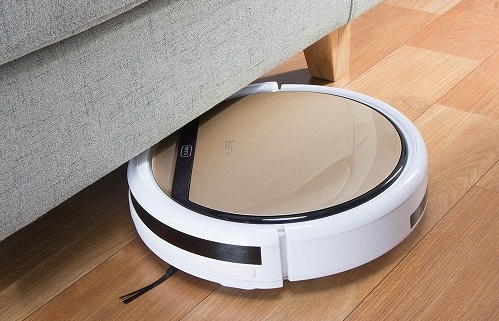 ILIFE V5s Robot Vacuum Cleaner slim design..