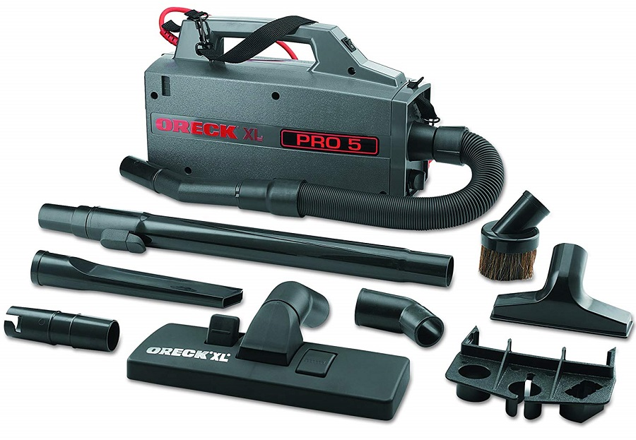 Oreck-Commercial-BB900DGR-XL-Pro-5-Super-Compact-Canister-Vacuum-Attachments