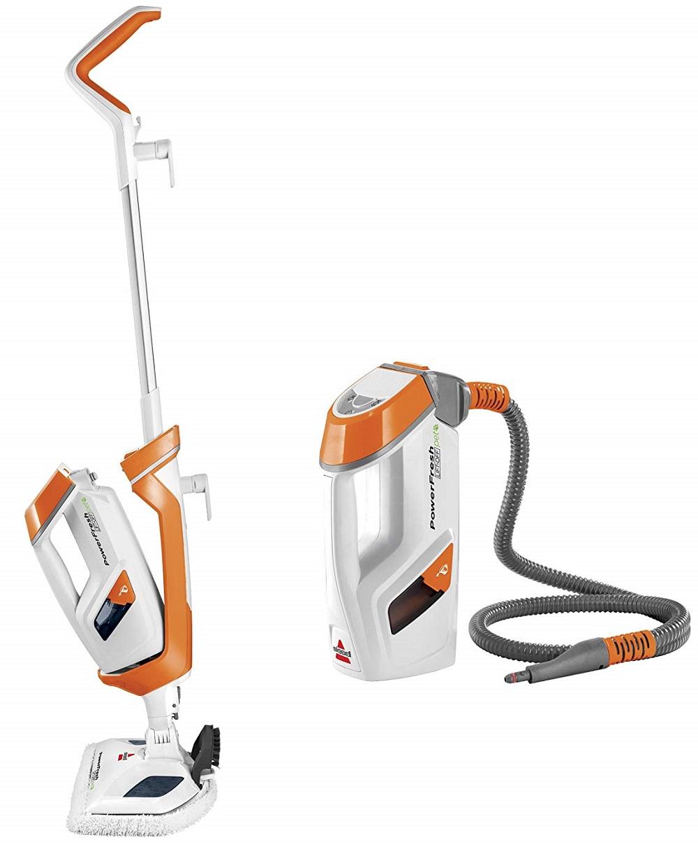 Bissell-PowerFresh-Lift-Off-Pet-Steamer-Floor Cleaner-1544A-Steam-Mop-Orange