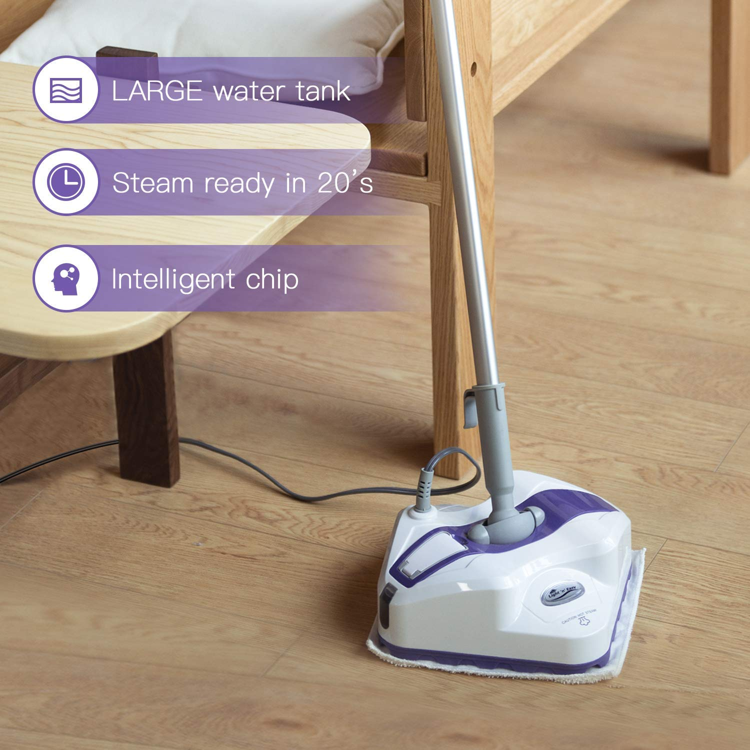 Light-N-Easy-Steam-Mop-for-Floor-Cleaning-With-Steam-Control