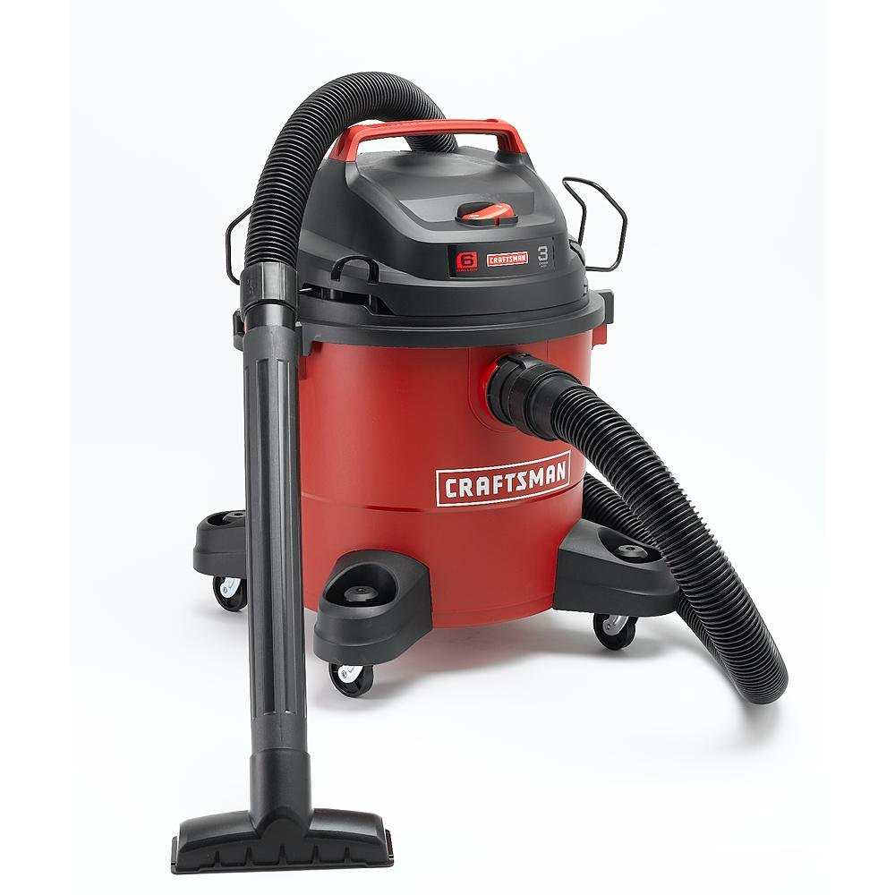 Craftsman-12004-6-Gallon-3-Peak-HP-Wet-Dry-Vacuum-Cleaner