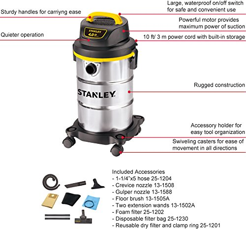 Stanley-Wet-Dry-Vacuum-Cleaner-5-Gallon-4-Horsepower-Stainless-Steel-Tank