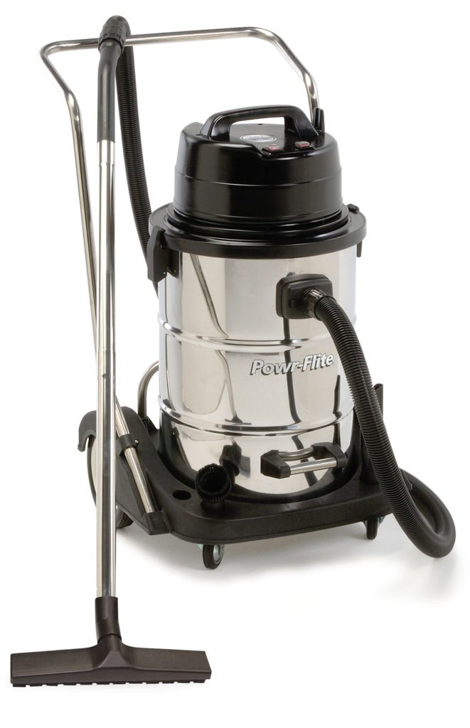 Powr-Flite-PF57-Dual-Motor-Wet-Dry-Vacuum-with-Stainless-Steel-Tank-and-Tool-Kit-20-gallon-Capacity