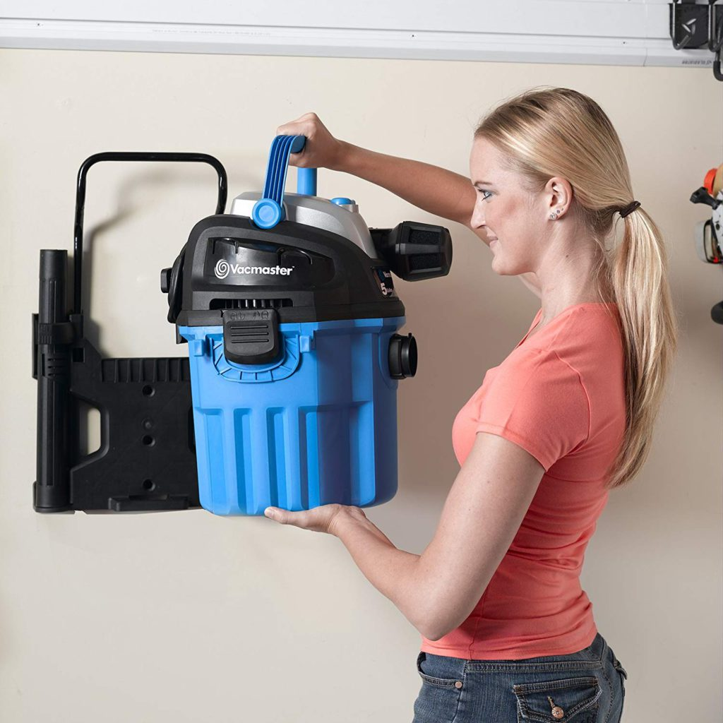 Vacmaster-5-Gallon-5 Peak-HP-with-2-Stage-Motor-Wet-Dry-Vacuum-Cleaner-Wall-Mountable