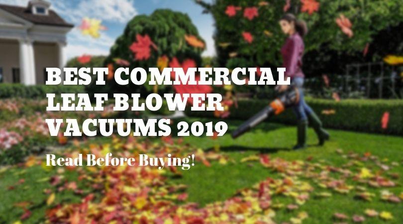 5 Best Commercial Leaf Blower Vacuums To Tackle Dead Leaves & Debris (2019)