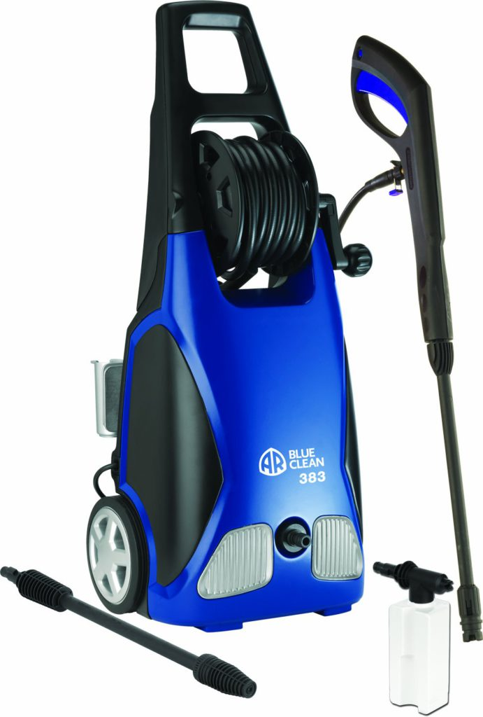 AR-Blue-Clean-AR383-1900-PSI-Electric-Pressure-Washer-Nozzles-Spray Gun-Wand-Detergent-Bottle-Hose