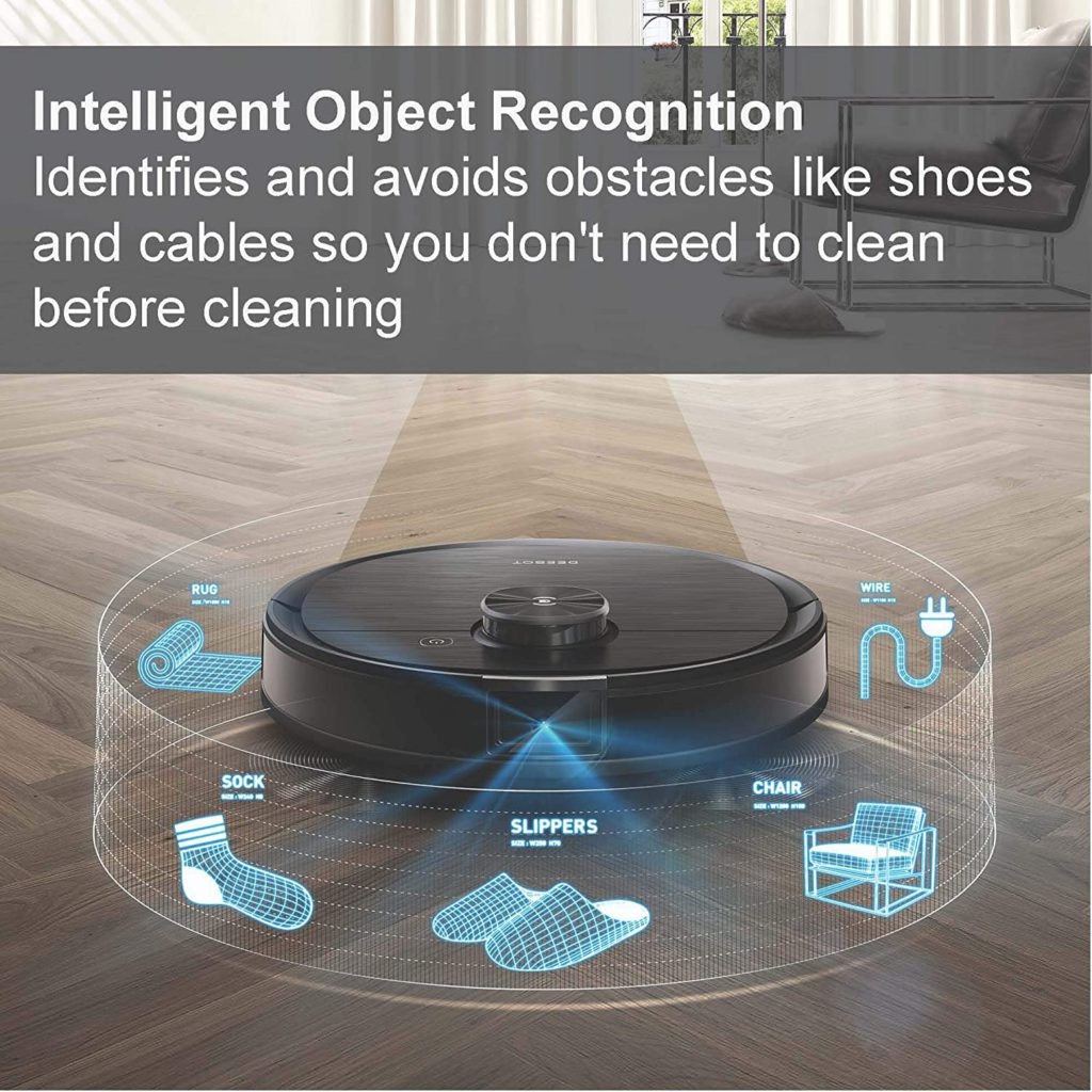 Ecovacs-Deebot-Ozmo-T8-AIVI-Robot-Vacuum-Mop-with-Smart-Objection-Recognition