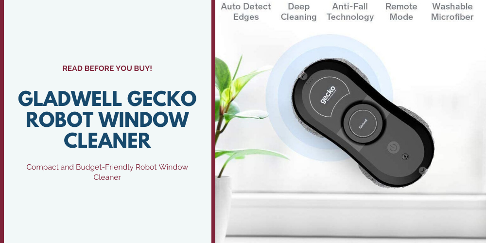 Gladwell Gecko Robot Window Cleaner | Compact and Budget-Friendly Robot Window Cleaner