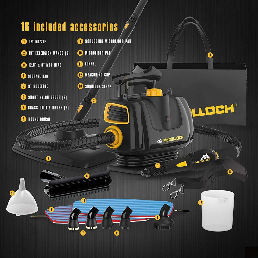 McCulloch-MC1270-Portable-Steam-Power-Cleaner