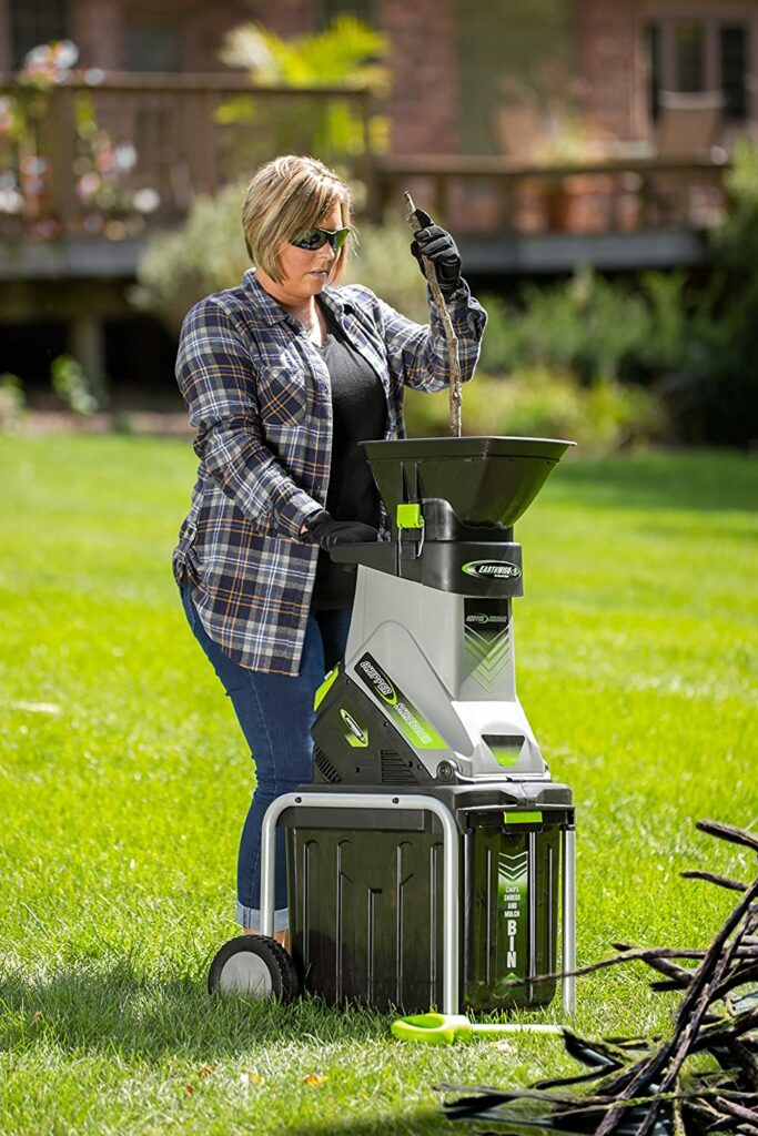 earthwise-garden-electric-shredder-features