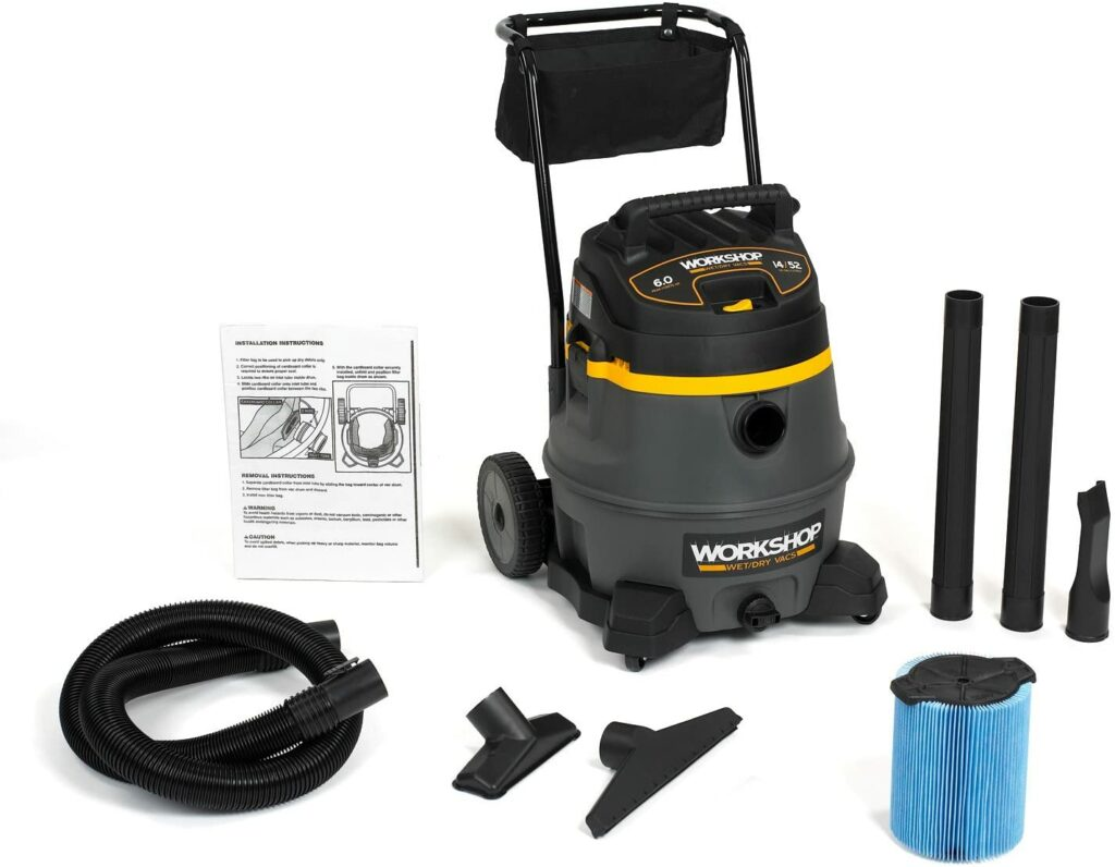 WORKSHOP-WS1400CA-Wet-Dry-Vacuum-specifications